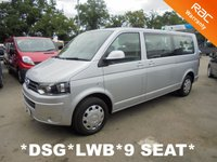 USED 2014 14 VOLKSWAGEN TRANSPORTER SHUTTLE 9 Seat LWB SE 2.0 TDi 140 BHP Automatic DSG