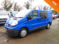USED 2008 57 RENAULT TRAFIC 6 Seat CREW CAB 2.0 DCi 115 6 Speed*FULL RENAULT HISTORY*