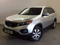 USED 2011 11 KIA SORENTO 2.2 CRDI KX-2 5d AUTO 195 BHP 7 SEATER LEATHER  4WD. 7 SEATER. STUNNING SILVER MET WITH FULL BLACK LEATHER TRIM. HEATED SEATS. CRUISE CONTROL. 17 INCH ALLOYS. COLOUR CODED TRIMS. PRIVACY GLASS. PARKING SENSORS. BLUETOOTH PREP. AIR CON. TRIP COMPUTER. R/CD PLAYER. MFSW. MOT 03/18. ONE OWNER FROM NEW. FULL SERVICE HISTORY. PRISTINE CONDITION. FCA FINANCE APPROVED DEALER. TEL 01937 849492