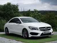 USED 2014 14 MERCEDES-BENZ CLA CLASS 2.0 CLA45 AMG Speedshift DCT 4-MATIC 4dr FSH SAT NAV LTHR DAB XENONS