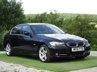 USED 2011 61 BMW 3 SERIES 2.0 318d Exclusive 4dr FSH BLACK LEATHER BLUETOOTH
