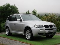 USED 2008 08 BMW X3 2.0 20d M Sport 5dr FSH FULL BLACK LEATHER BTOOTH