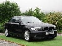 USED 2011 61 BMW 1 SERIES 2.0 118d M Sport 2dr FSH 1/2 BLK LEATHER AUX
