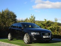USED 2011 61 AUDI A3 1.6 TDI S Line Sportback 5dr FSH 1/2 BLK LTHR AUX IN DRL