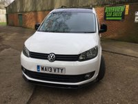 USED 2013 13 VOLKSWAGEN CADDY 1.6 C20 TDI 102 1d 102  BHP BLACK ROOF, NEW 18 INCH ALLOYS, BODYKIT, SIDE STEPS,