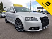 USED 2008 57 AUDI A3 2.0 SPORTBACK! S-LINE! 5d 168 BHP!p/x welcome! AUTO! FULL SRVC HIST! FULL LEATHER! CLIMATE CONTROL! MODIFIED GRILL! NEW MOT & SERVICE! MODIFIED! FULL SERVICE HISTORY! LEATHER STEERING! CLIMATE CONTROL! NEW MOT & SERVICE!