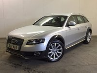 USED 2011 11 AUDI A4 ALLROAD 2.0 ALLROAD TDI QUATTRO 5d 168 BHP SAT NAV LEATHER PDC 4WD. SATELLITE NAVIGATION. STUNNING SILVER MET WITH FULL BLACK LEATHER TRIM. HEATED SEATS. CRUISE CONTROL. 18 INCH ALLOYS. COLOUR CODED TRIMS. PARKING SENSORS. BLUETOOTH PREP. CLIMATE CONTROL. R/CD PLAYER. MFSW. MOT 03/18. SERVICE HISTORY. PRISTINE CONDITION. FCA FINANCE APPROVED DEALER. TEL 01937 849492