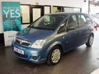 USED 2006 06 VAUXHALL MERIVA 1.4 LIFE 16V TWINPORT 5d 90 BHP This Meriva will average 50 mpg . No Cambelt Costs as chain driven, Finished in metallic steel blue which looks grey with Black cloth seats.