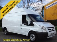 USED 2009 59 FORD TRANSIT 100 T350 LWB High Roof [ Moble Workshop ] Van Rwd Free UK Delivery