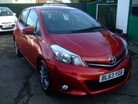 2014 TOYOTA YARIS 1.3 VVT-I ICON PLUS 5d 99 BHP £7999.00