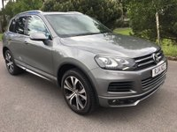 USED 2014 14 VOLKSWAGEN TOUAREG 3.0 V6 R-LINE TDI BLUEMOTION TECHNOLOGY 5d AUTO 242 BHP ONE OWNER R LINE WITH PAN ROOF SAT NAV AND VW SERVICE HISTORY