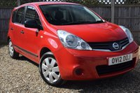 USED 2012 12 NISSAN NOTE 1.6 VISIA 5d 110 BHP Free 12  month warranty