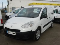 USED 2014 64 PEUGEOT PARTNER 1.6 HDI PROFESSIONAL L1 850 VAN 1d 89 BHP *3 SEATS AIR CON*