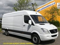 USED 2012 12 MERCEDES-BENZ SPRINTER 313 CDI Lwb High Roof [ Insulated ] Cruise van Free UK Delivery