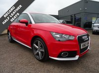 USED 2012 61 AUDI A1 1.4 TFSI CONTRAST EDITION 3d 122 BHP 2 KEYS SERVICE HISTORY FULL SPORTS LEATHER
