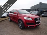USED 2009 09 AUDI Q7 3.0 TDI QUATTRO S LINE 5d AUTO 240 BHP 1 OWNER 5 AUDI SERVICE STAMPS  TWO TONE SPORTS LEATHER TRIM, FANTASTIC HIGH SPEC £COST NEW £57035 WITH £15045 WORTH OF FACTORY EXTRAS