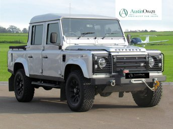 2006 LAND ROVER DEFENDER 110 5.0 110  SILVER DOUBLE CAB PICK UP £49990.00