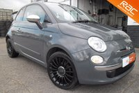 USED 2012 12 FIAT 500 1.2 LOUNGE 3d 69 BHP TECH HOUSE GREY+GLOSS BLACK ALLOYS