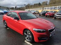 USED 2015 15 BMW 2 SERIES 220i COUPE SPORT  Bright Red with Black trim & Red stitching, only 24,000 miles