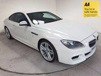 USED 2013 63 BMW 6 SERIES 3.0 640D M SPORT 2d AUTO 309 BHP FSH-LEATHER-NAV-BLUETOOTH-CAMERA