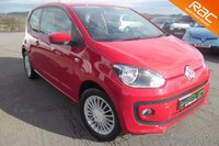 USED 2014 14 VOLKSWAGEN UP 1.0 HIGH UP 3d 74 BHP FANTASTIC LOW MILEAGE EXAMPLE