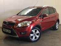 USED 2008 58 FORD KUGA 2.0 TITANIUM TDCI AWD 5d 134 BHP 4WD LEATHER PDC PRIVACY 4WD. STUNNING RED MET WITH PART BLACK LEATHER TRIM. CRUISE CONTROL. 18 INCH ALLOYS. COLOUR CODED TRIMS. PRIVACY GLASS. PARKING SENSORS. BLUETOOTH PREP. CLIMATE CONTROL. TRIP COMPUTER. R/CD PLAYER. 6 SPEED MANUAL. MFSW. TOWBAR. MOT 03/18. ONE PREV OWNER. SERVICE HISTORY. PRISTINE CONDITION. FCA FINANCE APPROVED DEALER. TEL 01937 849492.