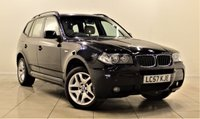 USED 2008 57 BMW X3 2.0 D M SPORT 5d 148 BHP + CARBON BLACK + LEATHERS + AIR CON + CLIMATE CONTROL + SERVICE HISTORY