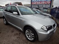 "USED 2006 06 BMW X3 2.0 D M SPORT 5d 148 BHP FULLY COLOUR CODED, F.S.H, 18"" ALLOYS"