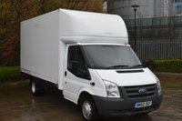 2010 FORD TRANSIT 2.4 T350  RWD 3d 100 BHP LWB HIGH ROOF DIESEL MANUAL LUTON VAN  £6790.00