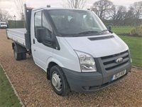 USED 2011 11 FORD TRANSIT TIPPER 2.4 330 LIMITED SHR 1d 115 BHP FORD TIPPER LIGHT WEIGHT BODY