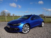 USED 2012 12 VOLKSWAGEN SCIROCCO 2.0 TDI BlueMotion Tech GT 3dr NAV + LEATHER + PDC + FSH