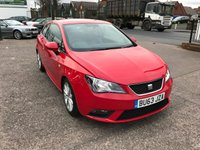 USED 2013 63 SEAT IBIZA 1.4 TOCA 3d 85 BHP 1 Owner, Full Service History, Sat-Nav, Bluetooth.