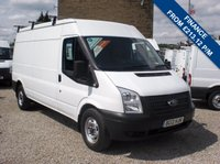 USED 2012 12 FORD TRANSIT 100T 350 2.2TDCi FWD LWB MEDIUM ROOF VAN ONE OWNER - FSH - ONLY 47,000m