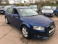 USED 2011 11 AUDI A3 1.6 TDI SE 5d 103 BHP ONLY 44,000 MILES, FULL SERVICE HISTORY, ALLOY WHEELS, DUAL ZONE CLIMATE CONTROL, STEERING WHEEL CONTROLS, RADIO/CD, TRACTION CONTROL, AUTO LIGHTS, ARM REST, FOG LIGHTS, CLOTH INTERIOR,