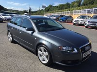 USED 2005 05 AUDI A4 AVANT 2.0 TDI S LINE ESTATE Diesel 140 BHP Full leather & Suede S-Line interior, service history