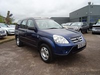USED 2005 05 HONDA CR-V 2.0 I-VTEC SE 5d 148 BHP 1 PREVIOUS OWNER SERVICED AT 9246M 19965M 28892M 36272M 47776M 58734M 78182M 88214M 107242M 115308M MOT TILL 02/03/2018 TAKEN IN PART EXCHANGE BY OURSELVES GREAT VALUE LITTLE 4X4