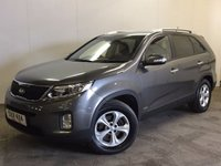 USED 2013 13 KIA SORENTO 2.2 CRDI KX-2 SAT NAV 5d AUTO 194 BHP 7 SEATER LEATHER FSH 4WD. FACELIFT MODEL. SATELLITE NAVIGATION. 7 SEATER. STUNNING SILVER MET WITH FULL BLACK LEATHER TRIM. HEATED SEATS. CRUISE CONTROL. 17 INCH ALLOYS. COLOUR CODED TRIMS. PRIVACY GLASS. PARKING SENSORS. BLUETOOTH PREP. CLIMATE CONTROL. TRIP COMPUTER. R/CD PLAYER. MFSW. MOT 03/18. ONE OWNER FROM NEW. FULL SERVICE HISTORY. PRISTINE CONDITION. FCA FINANCE APPROVED DEALER. TEL 01937 849492