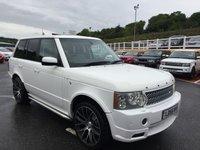USED 2006 56 LAND ROVER RANGE ROVER KHAN 3.6 TDV8 VOGUE AUTO 272bhp Pearlescent White, full KHAN Model with Diamond Quilted leather, bodykit & more.