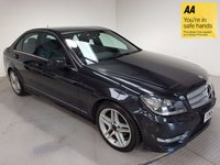 USED 2012 62 MERCEDES-BENZ C CLASS 2.1 C220 CDI BLUEEFFICIENCY AMG SPORT 4d AUTO 168 BHP HISTORY-LEATHER-NAV-BLUETOOTH