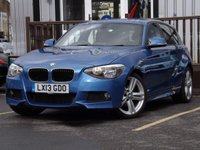 USED 2013 13 BMW 1 SERIES 2.0 120D M SPORT 5d AUTO 181 BHP 5 BMW SERVICE HISTORY STAMPS .STUNNING EXAMPLE MUST BE SEEN