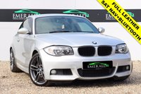 USED 2009 09 BMW 1 SERIES 2.0 123D M SPORT 2d AUTO 202 BHP £0 DEPOSIT FINANCE AVAILABLE**FULL SERVICE HISTORY**FULL BLACK LEATHER**SAT NAV**
