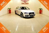 USED 2013 13 AUDI A4 2.0 TDI BLACK EDITION 4d 141 BHP 1 OWNER ONLY + BLACK EDITION