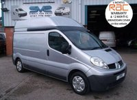 USED 2010 RENAULT TRAFIC LWB HIGH ROOF IN SILVER WITH AIR CON AND ELECTRIC PACK FSH IDEAL WORKSHOP VAN IDEAL CAMPER OR DAY VAN, 1 OWNER FSH, 12 MONTH WARRANTY