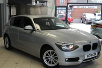 USED 2014 14 BMW 1 SERIES 2.0 118D SE 5d AUTO 141 BHP FULL SERVICE HISTORY + SAT NAV + 0% FINANCE AVAILABLE T&C'S APPLY + DAB RADIO + REAR PARKING SENSORS + CRUISE CONTROL + RAIN SENSORS