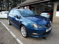 USED 2014 14 SEAT IBIZA 1.6 CR TDI FR 5d 104 BHP FULL SEAT SERVICE HISTORY, 1 OWNER FROM NEW, 2 KEYS, CRUISE CONTROL, SAT-NAV, ONLY £30 A YEAR ROAD TAX
