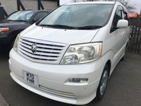 2003 TOYOTA ALPHARD 2.4 PEOPLE CARRIER AUTOMATIC £9990.00
