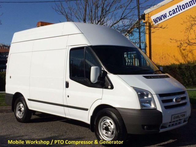 2011 61 FORD TRANSIT 100 T350 MWB H/R [ Mobile Workshop+Compressor ] Van Free UK Delivery