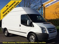 USED 2011 61 FORD TRANSIT 100 T350M High Roof [ Mobile Workshop+ P.T.O Compressor ] Van Low Mileage