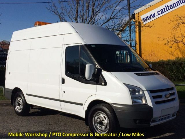 2011 61 FORD TRANSIT 100 T350 MWB Hi/R [ Mobile Workshop+ P.T.O Compressor ] Van Low Mileage
