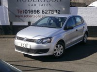 2012 VOLKSWAGEN POLO 1.2 S A/C 5dr £4950.00